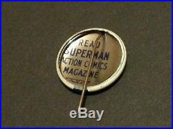 1939 Supermen of America Club Kit Superman Rare Action Comics Button Pinback