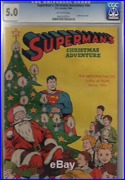 (1944) Superman's Christmas Adventure CGC 5.0! OWP! RARE