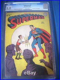 1945 SUPERMAN #33 DC Comics CGC Graded 6.0 FN Rare WHITE Pages Mr MXYZTPLK