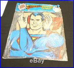 1974 DC Comics Superman jointed GIANT lifesize cardboard figure 6 1/2 feet mib