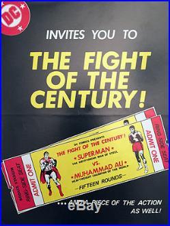 1977 Muhammad Ali vs Superman Rare Retailer-Only Brochure Near Mint