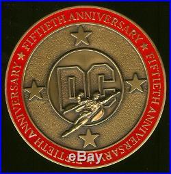 1985 DC 50th Anniversary Honoree Bronze Medallion Medal Superman Man of Steel