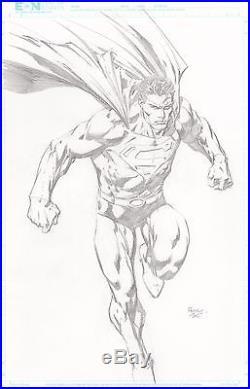 1c nr superman by david finch 11 17 ultra rare full figure pencil commission superman comic books