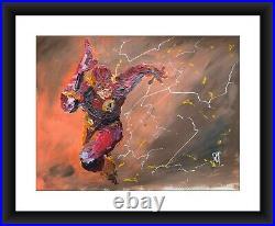24 Original Abstract Flash Barry Allen Running Comic Book Painting Wall Art