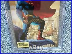 3x Signed JIM LEE 9.8 CGC SS SUPERMAN 204 batman wolverine brian azzarello gold