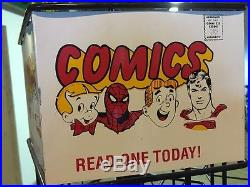 60s Vintage Comic Books Store Display Rack Superman Spider Man Richie Rich RARE