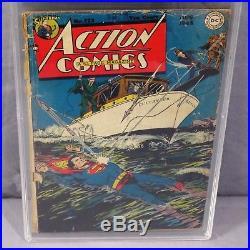 ACTION COMICS #123 (Golden Age, 1st time Superman flies) PGX 1.8 DC 1948 cgc