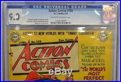 ACTION COMICS #133 CGC 9.0 Superman 1949 Highest Graded Copy