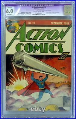 ACTION COMICS #19 CGC 6.0 Consecutive SUPERMAN Cover 1939 Ultra-Humanite App