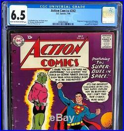 ACTION COMICS #242 (DC 1958) CGC 6.5 ONLY 17 HIGHER! 1ST APP of BRAINIAC