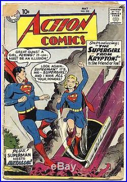 ACTION COMICS #252 FA, Origin and First app. SUPERGIRL, DC Comics 1959