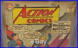 ACTION COMICS #252 (Supergirl & Metallo 1st app.) CGC 4.5 VG+ DC Comics 1959