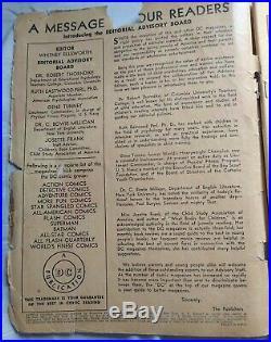 ACTION COMICS #41 1941 Superman Book Vintage Collectible DC Superhero Golden Age