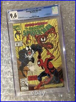 AMAZING SPIDER-MAN #362 (Carnage, Venom app, Newsstand) CGC 9.6 NM+ Marvel 1992