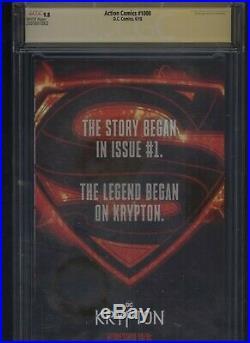 Action Comics #1000 CGC 9.8 SS Jim Lee variant cover JIM LEE 2018 Superman