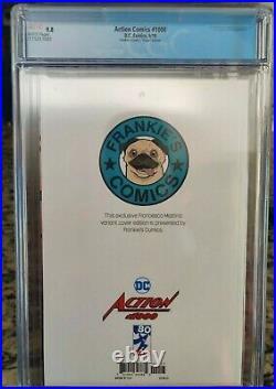 Action Comics #1000 DC Comics 2018 Frankie's Comics Ex. CGC 9.8 virgin Graded