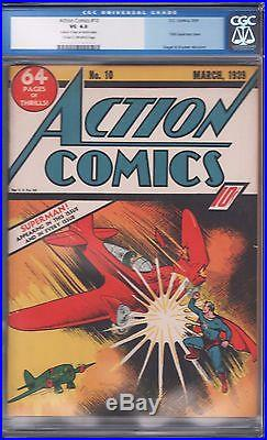 Action Comics 10 CGC 4.0 Golden Age Key DC Comic 3th Superman Cover RARE L@@K