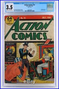Action Comics #14 CGC 3.5 VG- DC 1939 -Superman- 2nd Zatara cover