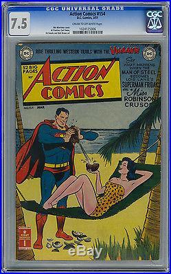 Action Comics #154 CGC 7.5 VF- DC Golden Age Superman
