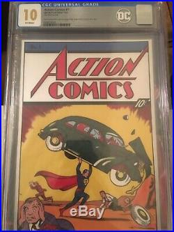 Action Comics 1 CGC 10.0 First Superman 9.9 9.8 Silver Foil Variant DC 1st Movie