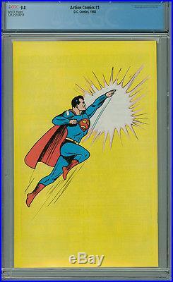 Action Comics 1 CGC 9.8 1988 WP Reprint DC Superman