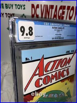 Action Comics #1 CGC 9.8 white pgs Loot Crate June 1938 Reprint 1st App SUPERMAN