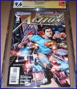 Action Comics #1 CGC SS 9.6 SIGNED Henry Cavill DC Superman Man Steel Movie JLA