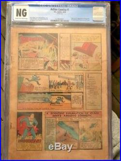 Action Comics #1 First Appearance Of Superman Universal Unrestored Holy Grail