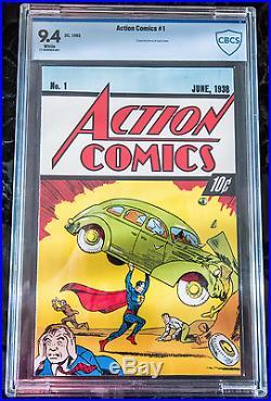 Action Comics #1 First Superman, CBCS 9.4, 10Cent, 54th Anniversary Reprint 1992