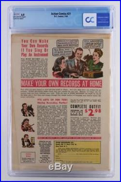 Action Comics #21 CGC 6.0 FN DC 1940 -Superman- A Ultra-Humanite App