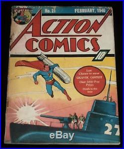 Action Comics #21/ February, 1940
