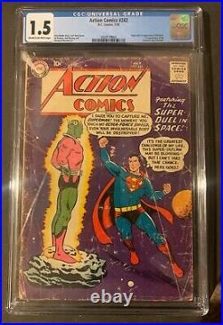 Action Comics #242 CGC 1.8 DC 1958 1st Brainiac! Key Silver Age