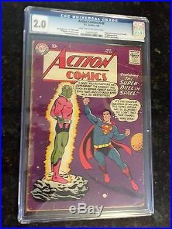 Action Comics #242 CGC 2.0. First Brainiac. First Kandor
