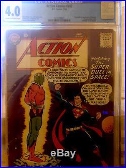 Action Comics #242 (Jul 1958, DC), CGC 4.0 First Braniac, Cream to Off White