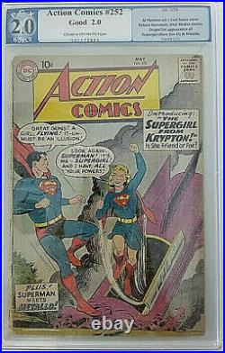 Action Comics #2521959 DCPGX 2.0 (GD)1st App. Of Supergirl & Metallo