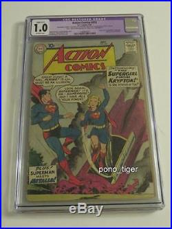 Action Comics #252 CGC 1.0 Origin & First Appearance of Supergirl Restored C-1