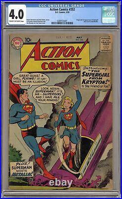 Action Comics #252 CGC 4.0 1959 0309155001 1st app. Supergirl