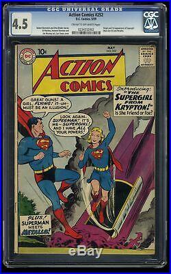 Action Comics #252 CGC VG+ 4.5 Cream To Off White