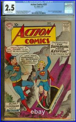 Action Comics #252 Cgc 2.5 Ow Pages