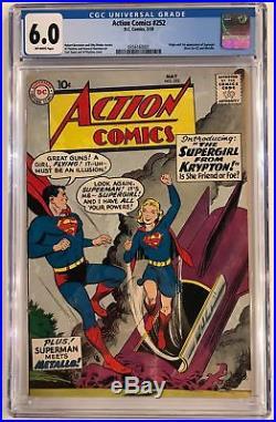 Action Comics #252 Cgc 6.0 1st Supergirl