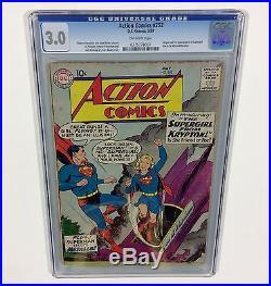 Action Comics #252 KEY CGC 3.0 (1st Supergirl & Origin) May 1959, DC Comics