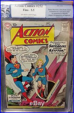 Action Comics #252 PGX 5.5 1st App SUPERGIRL KARA ZOR-EL Superman DC Silver Age