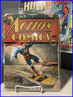 Action Comics 25 Complete Cover Detached Superman