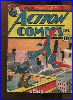 Action Comics #28 (4.0) Superman! 1940