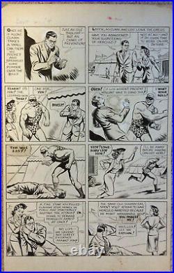 Action Comics #28 Page Original Art 1940 Jack Burnley / EARLIEST SUPERMAN PAGE