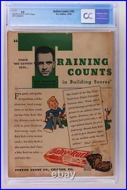 Action Comics #30 DC 1940 CGC 3.5 -Superman- 1st App & Death of Zolar