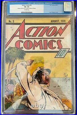 Action Comics #3 3rd Appearance of Superman CGC 3.5 Unrestored Offwhite Scarce