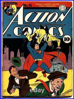 Action Comics #45-superman-1942-dc Golden-age-comic Book