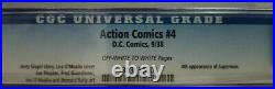 Action Comics #4 1938 DC CGC 6.0 (FN), 4th Appearance of Superman