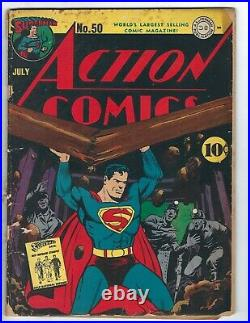 Action Comics #50 The Island Where Time Stood Still starring Three Aces